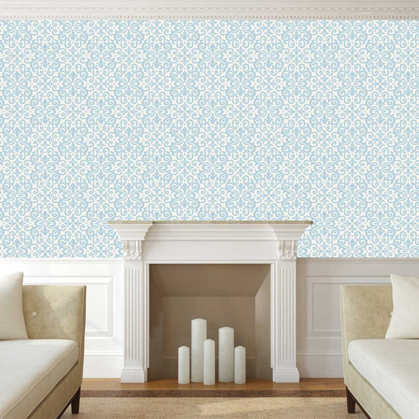 China Blue Damask