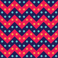 Hipster Chevron Red