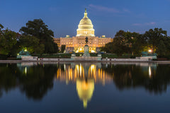 US Capital Building at Night, Washington DC