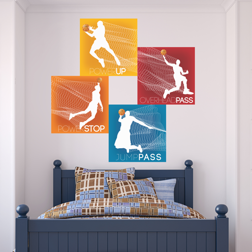 Basketball Superstar Room Squares