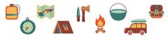 Camping Room Icons