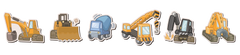 Construction Equipment Room Icons