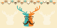 Hipster Animals Room Rectangle