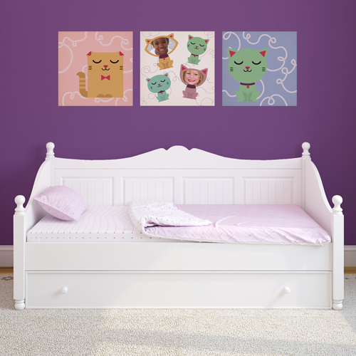 Kitty Cats Room Squares