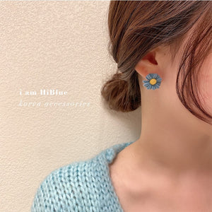 Candy colors Daisy Earring糖果色小雏菊银针