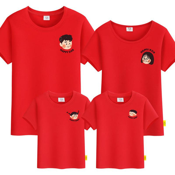 happy dad & mom icon tee Family Tshirt 小图开心家庭装
