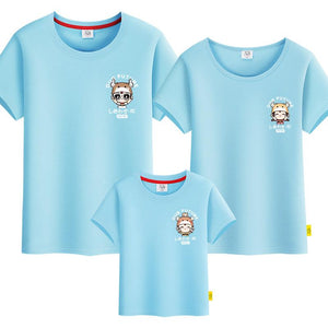 Stylish Ox Family Tshirt 《时尚牛年》家庭装