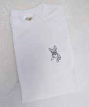 Load image into Gallery viewer, Bonjour Frenchie - Embroidered T-Shirt