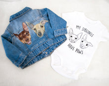 Load image into Gallery viewer, Children's Custom Pet Portrait Hand-Painted Denim Jacket - 0-14 years