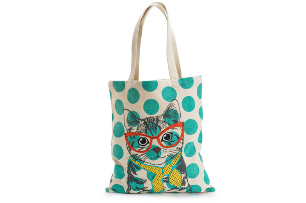 Cool Cat Canvas Tote