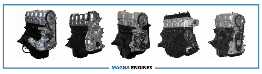 an image of five forklift engines