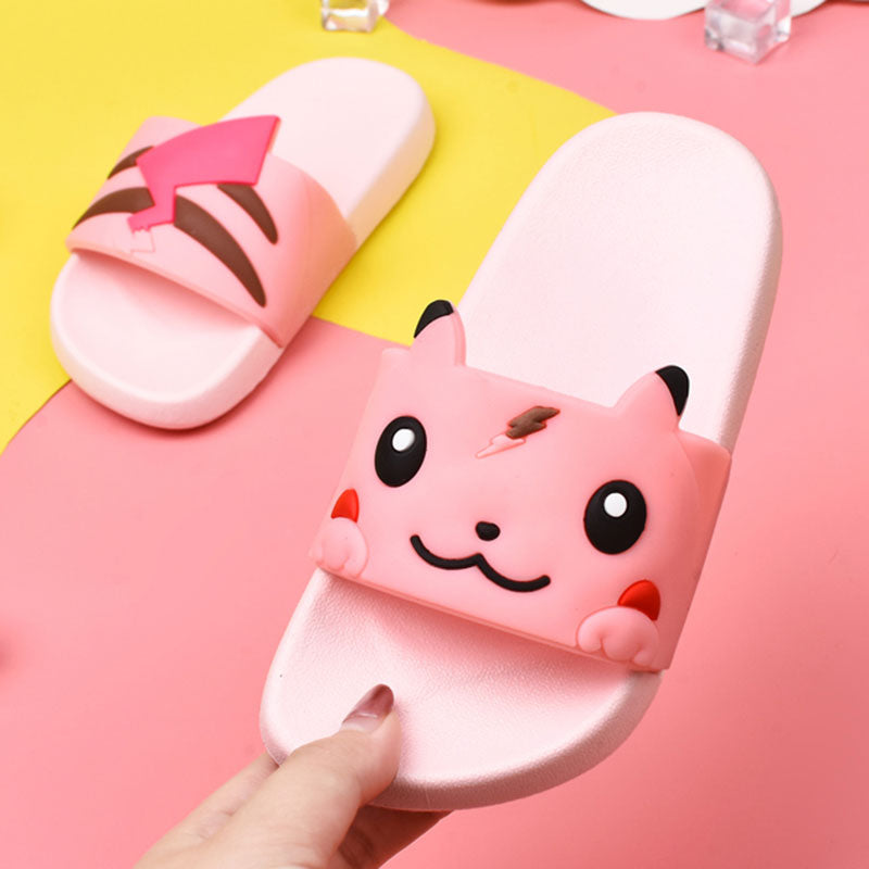 Pikachu Character Kids Slippers