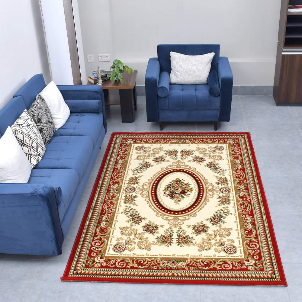 Modern Persian Style King Size (7.6 X 5.25 Feet) Thick & Cozy Floor Rug
