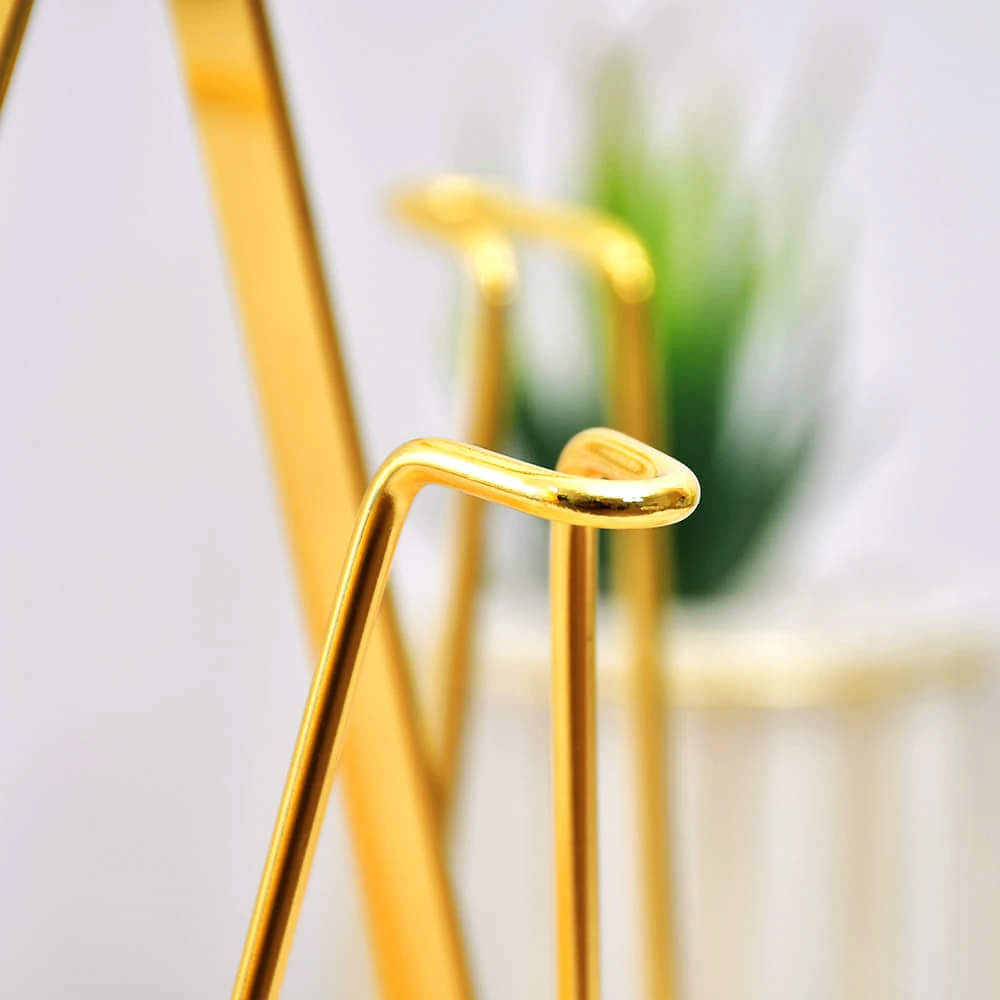 White & Gold Stainless Steel Glass Holder