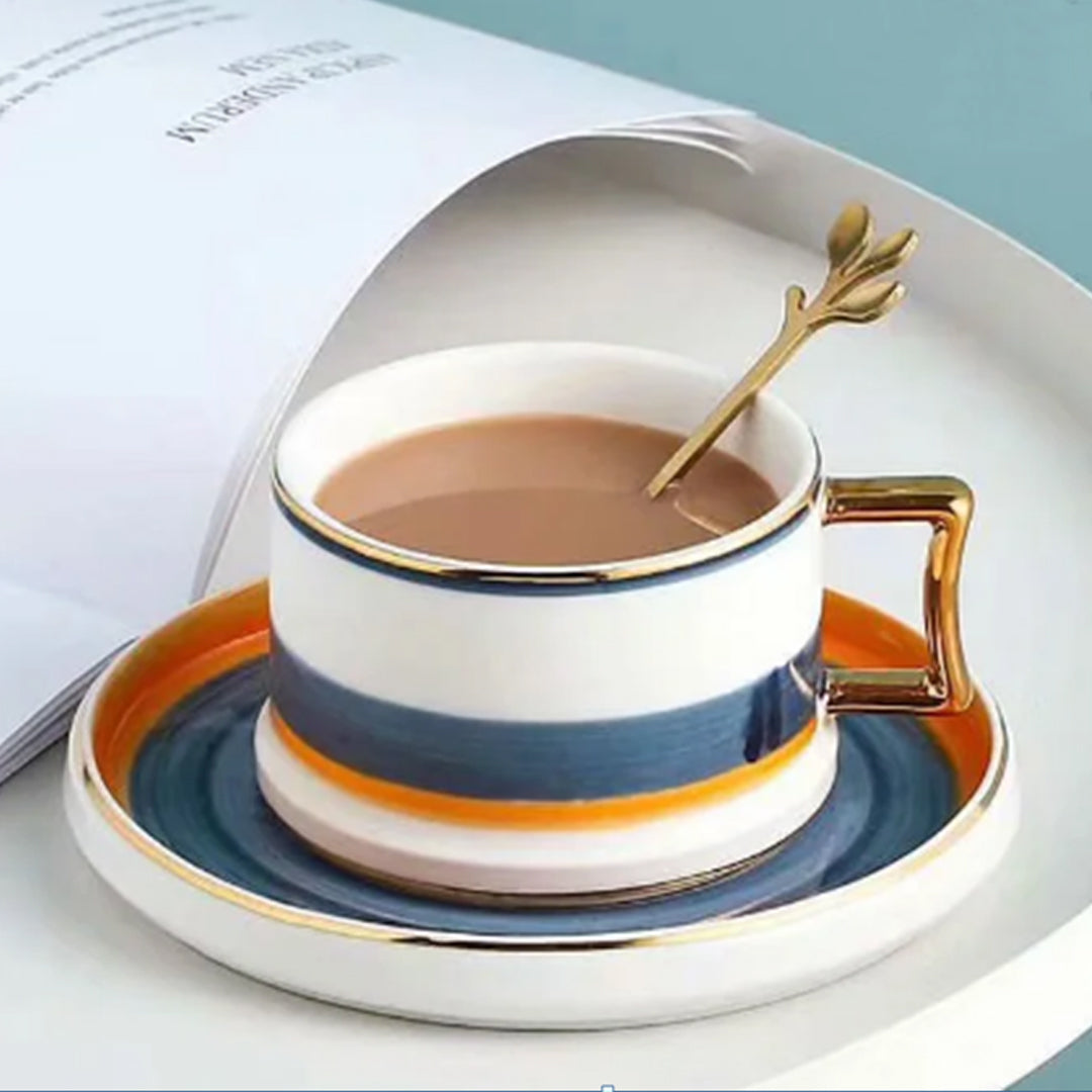 Classic Modish Nordic Cup with Saucer and Spoon