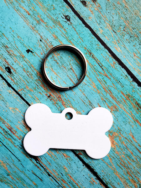 Personalize Dog Bone Sublimation Blank Pet Tags for Cash!