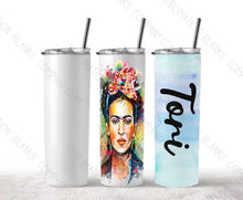 Load image into Gallery viewer, 20 oz. STRAIGHT Sublimation Tumbler with Metal Straw & Shrink Wrap! [Not Tapered!]