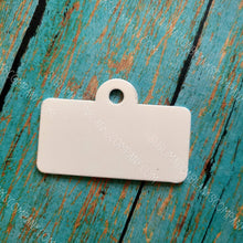 Load image into Gallery viewer, 2-sided Rectangle License Plate Pet ID Tag  with Hanging Ring