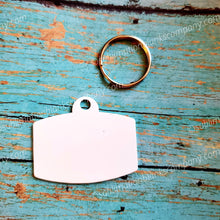 Load image into Gallery viewer, 2-Sided Rounded Rectangle Shape Ped ID Tag with Ring