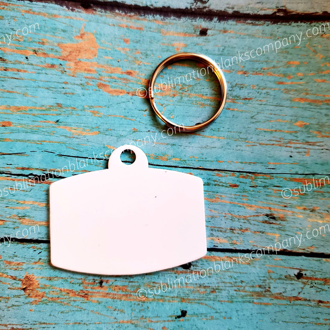 2-Sided Rounded Rectangle Shape Ped ID Tag with Ring