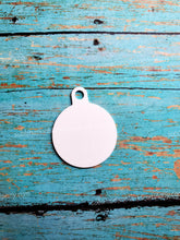 Load image into Gallery viewer, Round 2-sided Pet ID Tag with Hanging Ring
