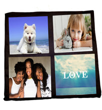 Load image into Gallery viewer, 2-sided 4-panel Photo Pillow Cover Sublimation Blank