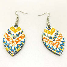 Load image into Gallery viewer, Pair of Leaf Shape 2-Sided MDF Sublimation Earrings with Hanging Hardware (set of 2)