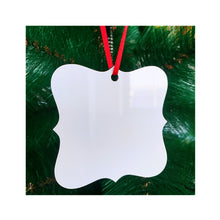 Load image into Gallery viewer, Square Decorative 2-Sided Christmas Holiday Ornament Sublimation Blank