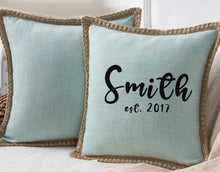 Load image into Gallery viewer, Square Farmhouse Pillow Cover with Burlap Trim Sublimation Blank