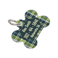Load image into Gallery viewer, 2-sided Dog Bone Shape Dog Pet ID Tag Aluminum Metal Sublimation Blank with Hanging Ring