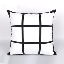 Load image into Gallery viewer, 9 Square Photo Pillow Cover Sublimation Blank. 1-sided