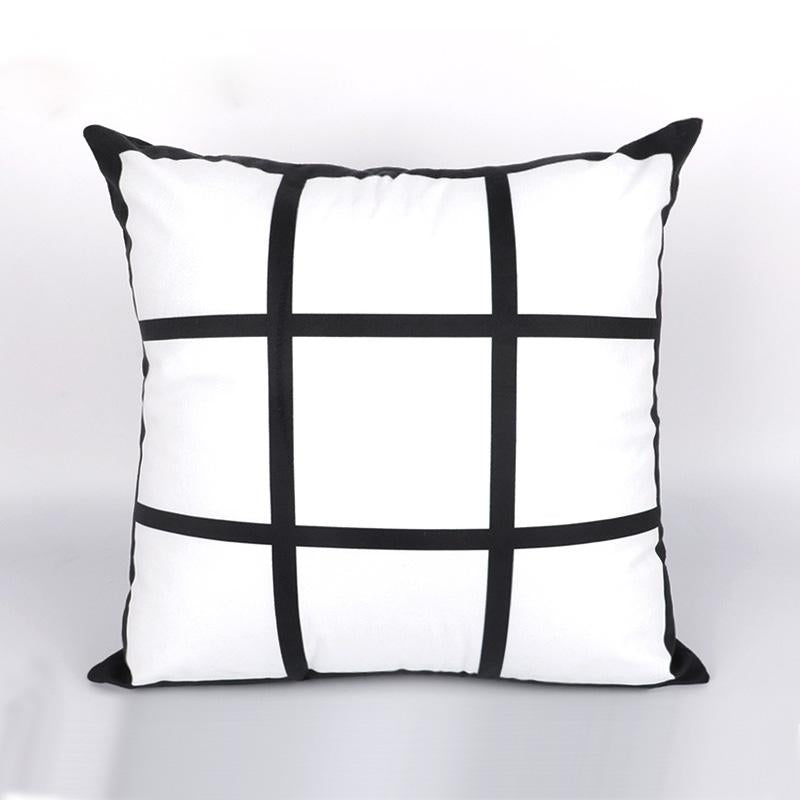 9 Square Photo Pillow Cover Sublimation Blank. 1-sided