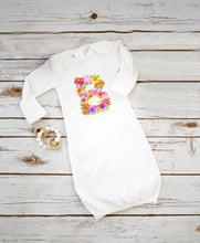 Load image into Gallery viewer, Newborn Baby Sleeping Gown and Hat Sublimation Blank Set. 2 Sleeve Options!