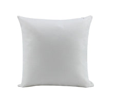 "Load image into Gallery viewer, 18"" White Burlap Pillow Cover Sublimation Blank."