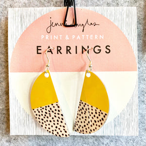 Yellow Freestyle Earrings