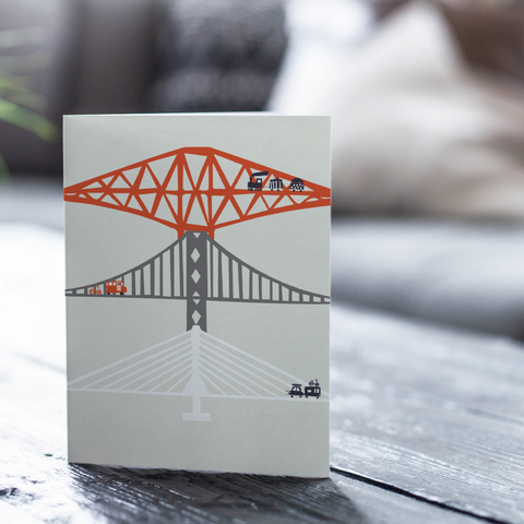 Forth Bridges Card (with free postage)