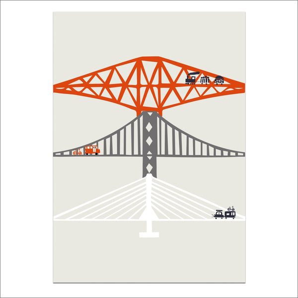 Forth Bridges Limited Edition Art Print