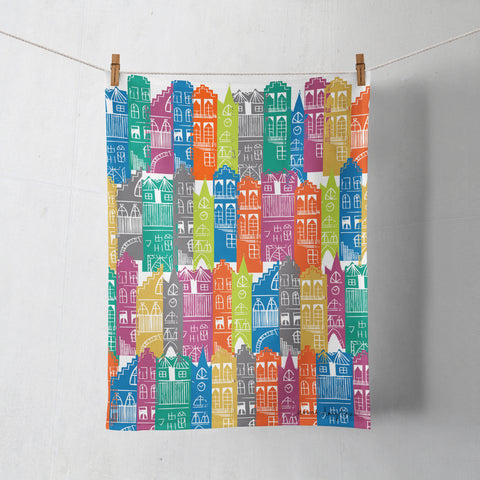EDINBURGH CITYSCAPE Tea Towel