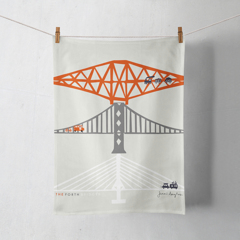 FORTH BRIDGES Tea Towel