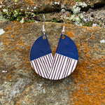 Load image into Gallery viewer, Peony Earrings (Navy)