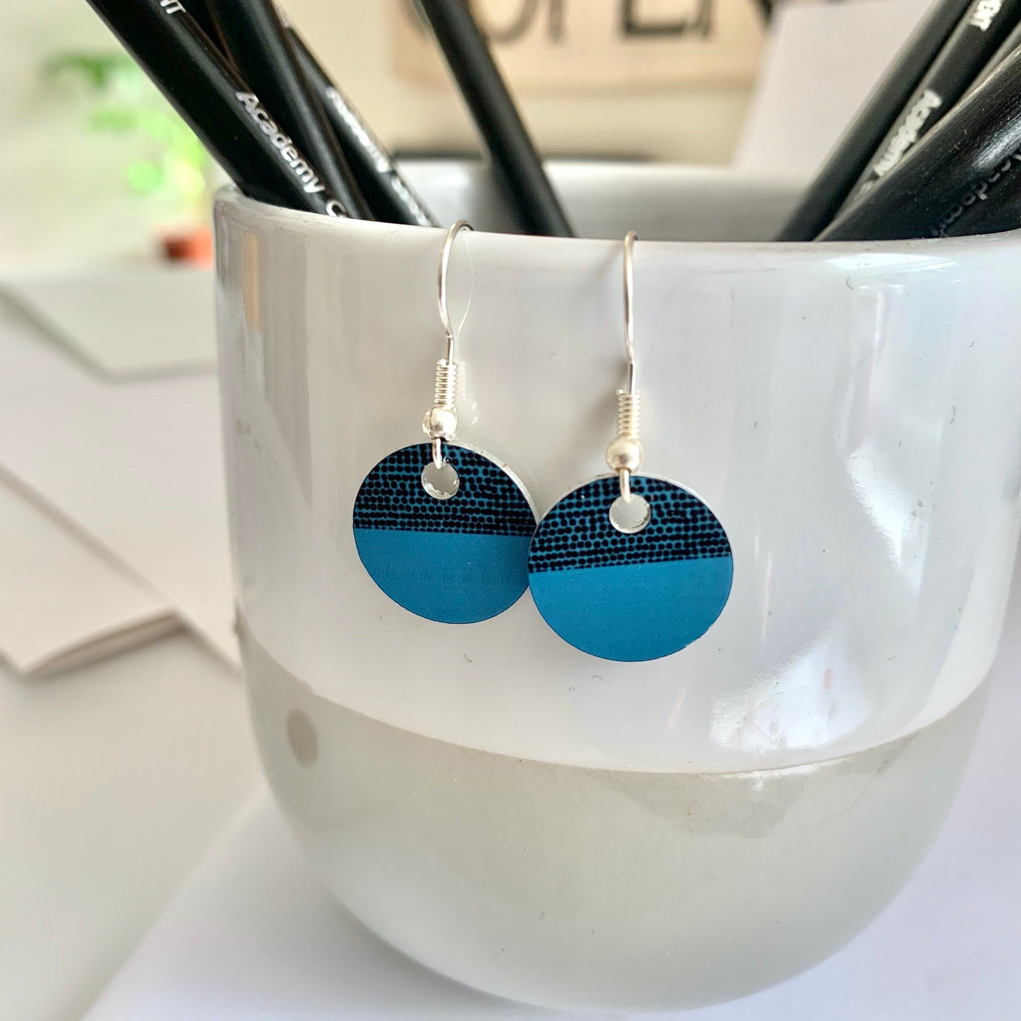 Balance Earrings - Teal (New)