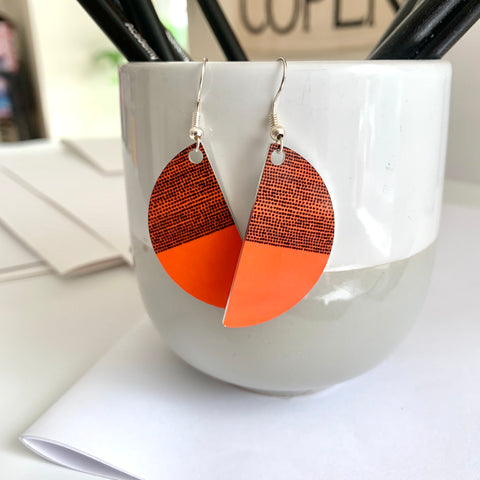 Balance Arc Earrings - Orange (New)