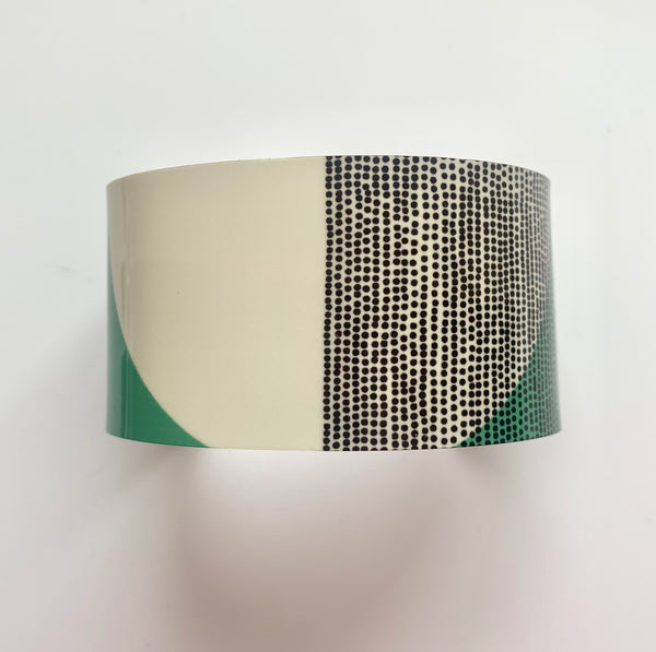 Balance Wide Cuff Bracelet - Green Band (New)