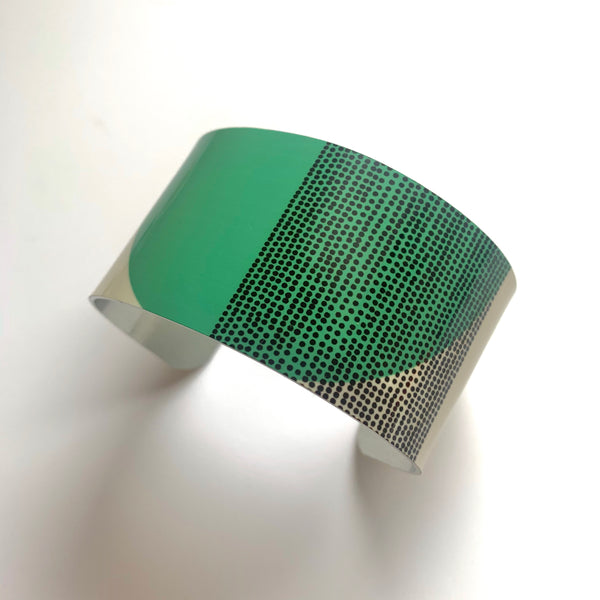 Balance Wide Cuff Bracelet - Green Arc (New)
