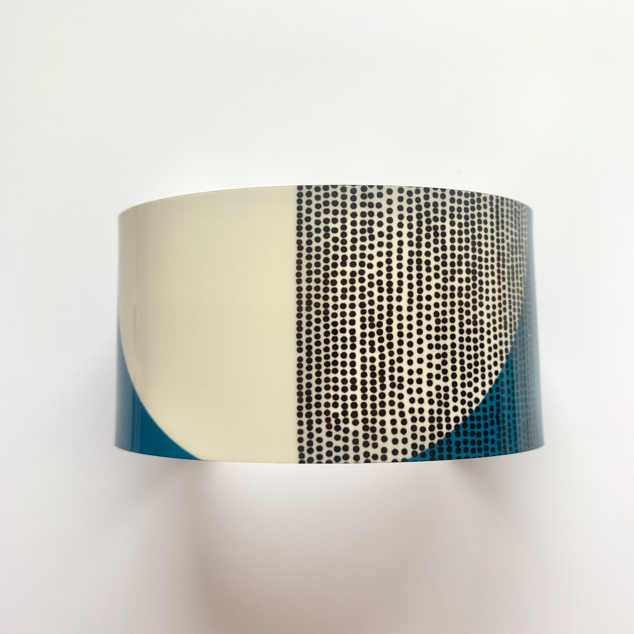 Balance Wide Cuff Bracelet - Teal Band