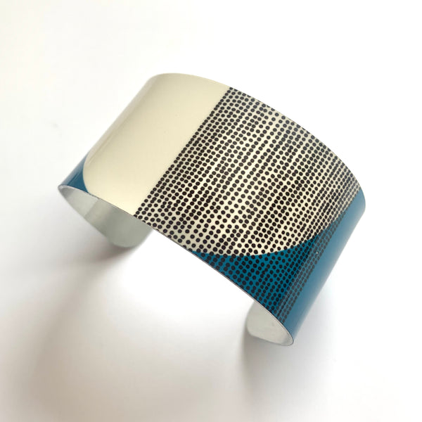 Balance Wide Cuff Bracelet - Teal Band (New)