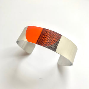 Balance Narrow Cuff Bracelet - Orange Arc