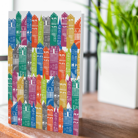Rainbow Edinburgh Cityscape Card (with free postage)