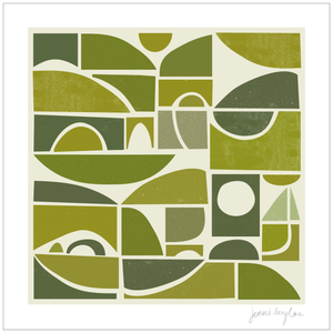 Country Shapes Print (New)