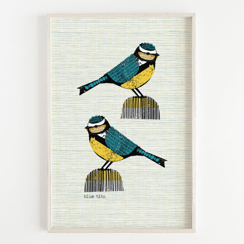 Bluetit Pair Art Print